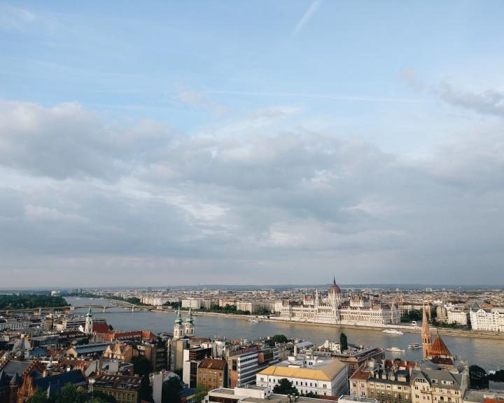 Budapest mit Blick auf Donau und das Parlament