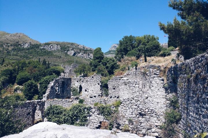 Ruinen der Altstadt Bar Montenegro