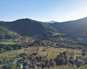 Landschaft Zugstrecke Serbien