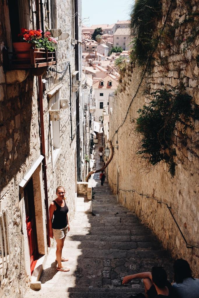 Gasse in Dubrovnik Altstadt