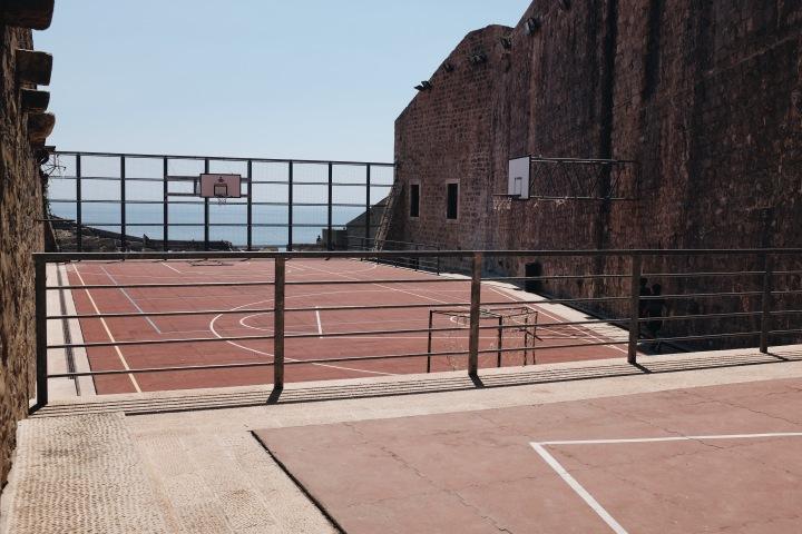 Basketballfelder von Dubrovnik