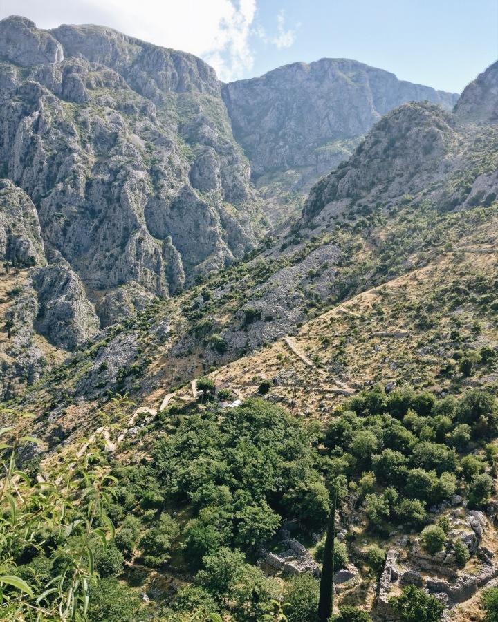 Berge um die Bucht von Kotor