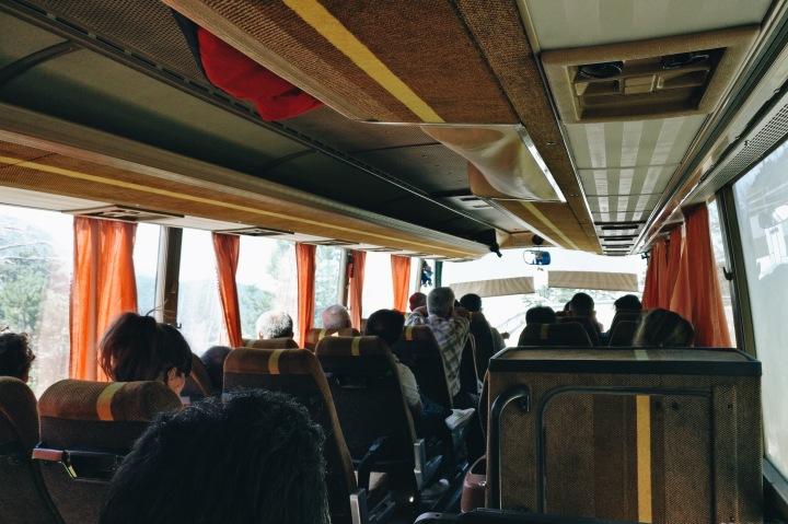 Im Bus Albanien