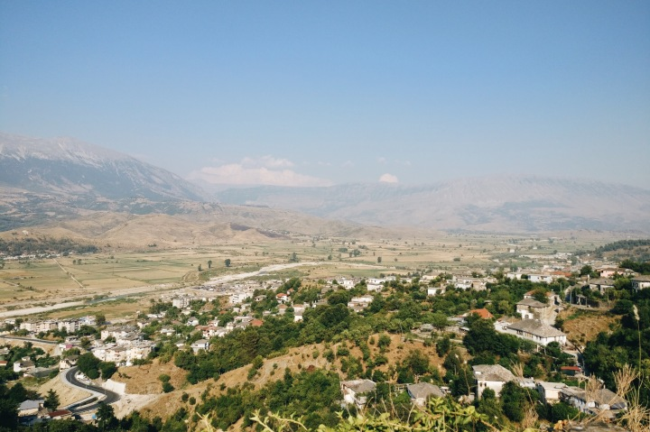 Ausblick Gjirokastra